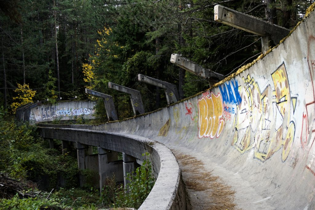 Abandoned venues of the Winter Olympics, Sarajevo, Bosnia and Herzegovina