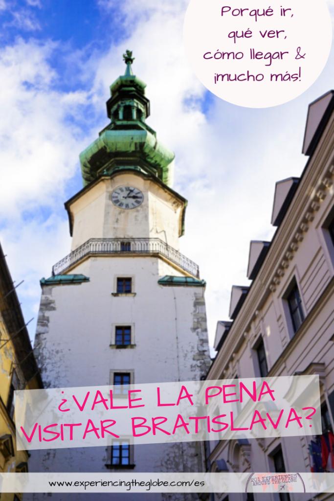Los viajeros en Viena, Praga o Budapest a menudo preguntan si vale la pena visitar Bratislava, y sólo respondo con una palabra: ¡absolutamente! Una ciudad medieval bien conservada con diversas capas de arquitectura y sin multitudes, ¿qué mejor? – Experiencing the Globe #Bratislava #Eslovaquia #SoloFemaleTravel #BucketList #Arquitectura #ArtNoveau #Brutalismo #ManAtWork #SchoneNaci #Petrzalka #PuenteOVNI #IglesiaAzul