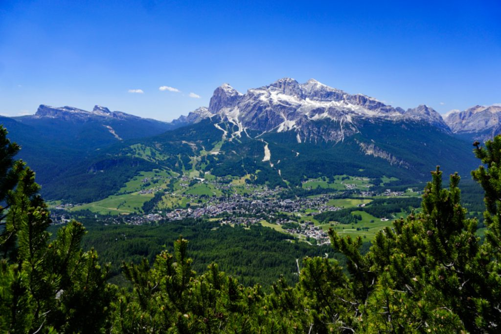 Cortina from above, Dolomieu trail, Dolomites, Italy