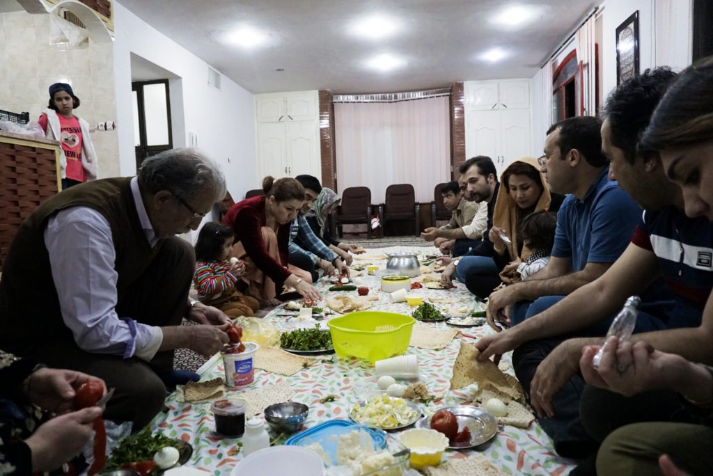 Dinner with my Kurdish family, Palangan, Kurdistan, Iran