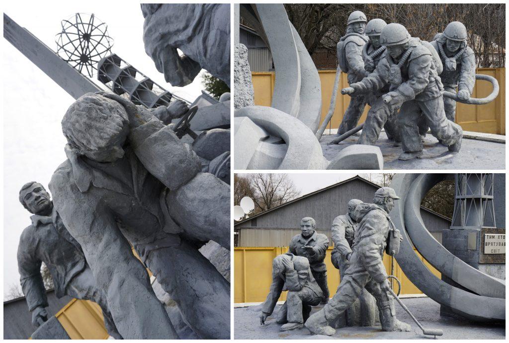Firefighters Monument Chernobyl Ukraine