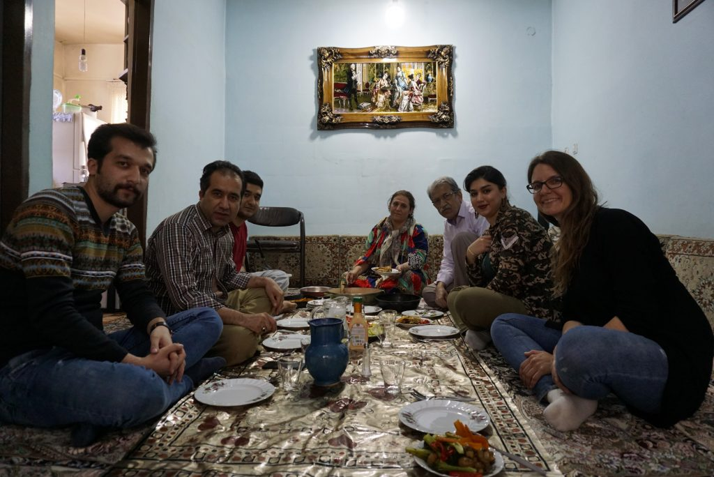Lunch with my Kurdish family, Kamyaran, Kurdistan, Iran
