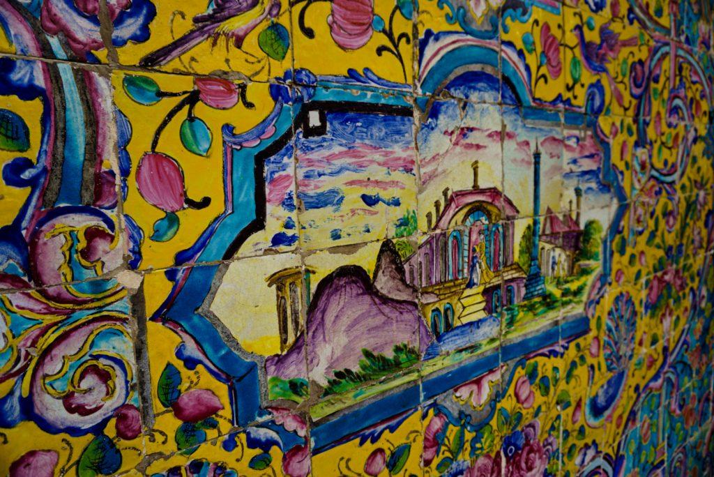 Mosaic and paint works, Golestan Palace, Tehran, Iran