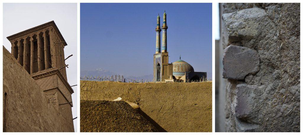 Mud constructions, Yazd, Iran