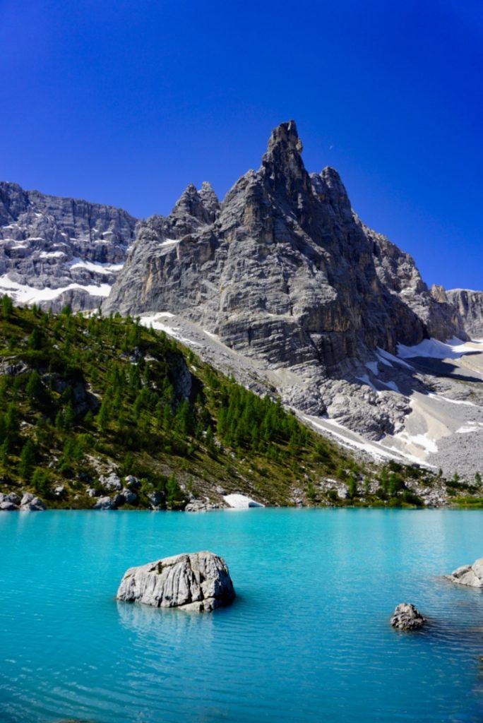 Sorapis lake, Dolomites, Italy