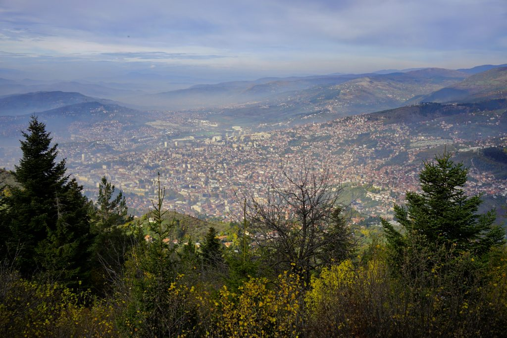 The city from above, Sarajevo, Bosnia and Herzegovina