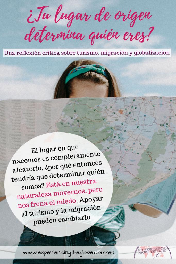 En un mundo donde decidimos poner fronteras antinaturales que crearon 193 países, que está habitado por más de 7.000 millones de personas, nacer en un lugar u otro es completamente aleatorio. Está en nuestra naturaleza movernos. Lo único que nos frena es el miedo. Miedo a los 'otros', miedo al cambio, miedo a perder nuestro privilegio. Pero el mundo está lleno de bondad, solo necesitamos verlo para ajustar nuestra perspectiva – Experiencing the Globe