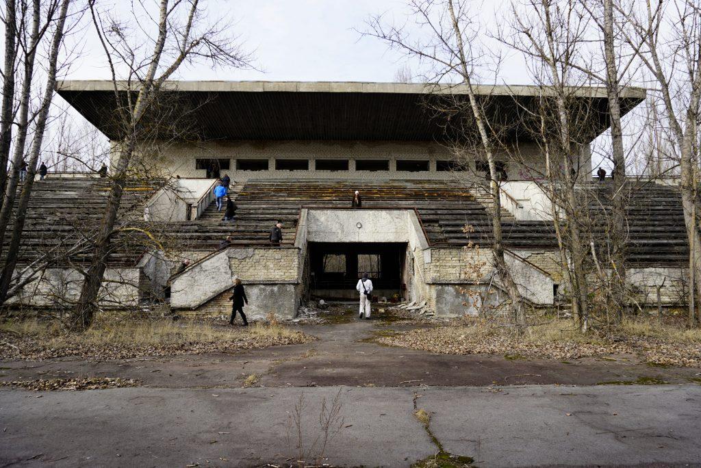 Avanhard Stadium Pripyat Chernobyl Ukraine