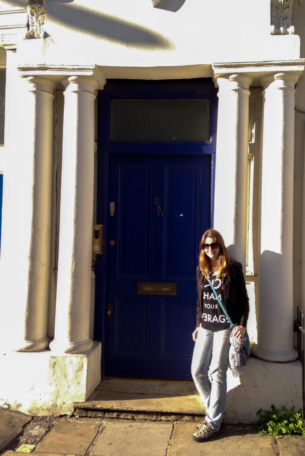 Blue door Notting Hill London