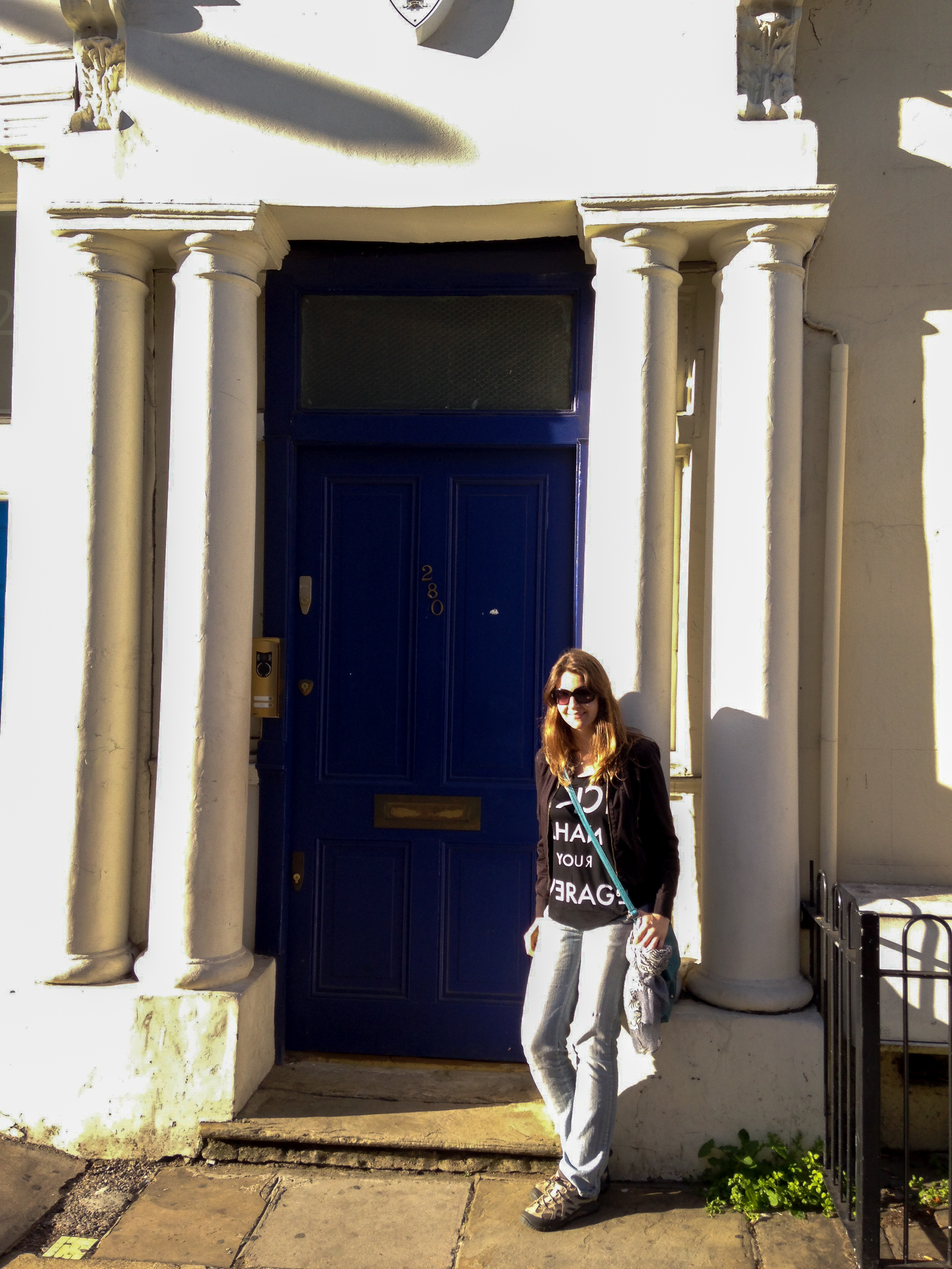 Blue door Notting Hill London