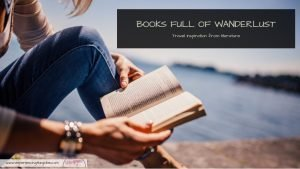 Books Full of Wanderlust