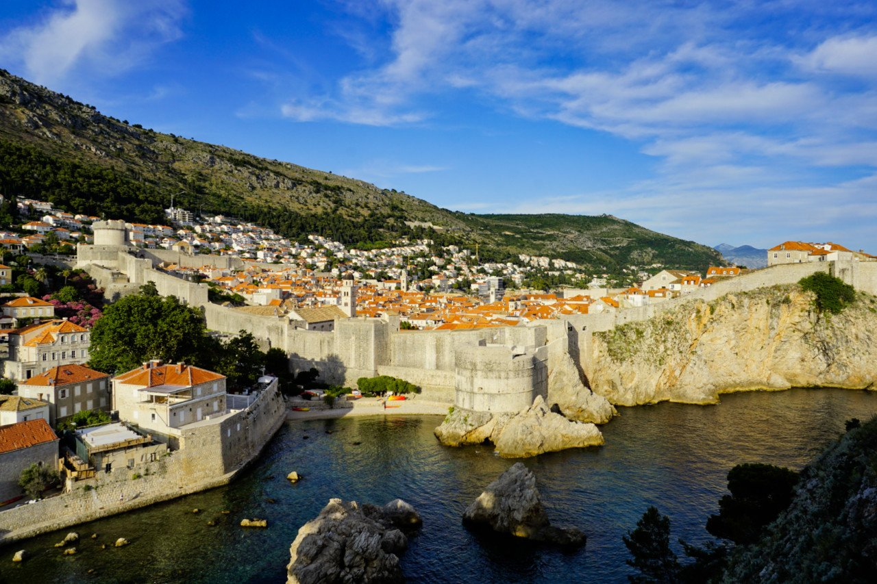 City Walls from Fort Lovrjenac, Dubrovnik, Croatia - Experiencing the Globe