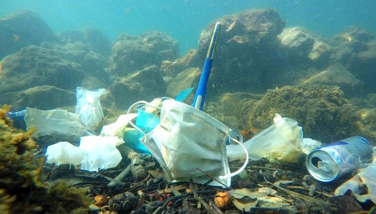 Ocean waste pollution due to COVID