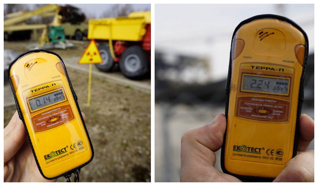 Dosimeter to measure radiation Chernobyl Ukraine