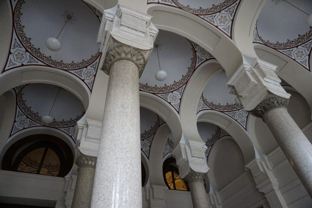 Hall of the National Library, Vijecnica, Sarajevo, Bosnia and Herzegovina