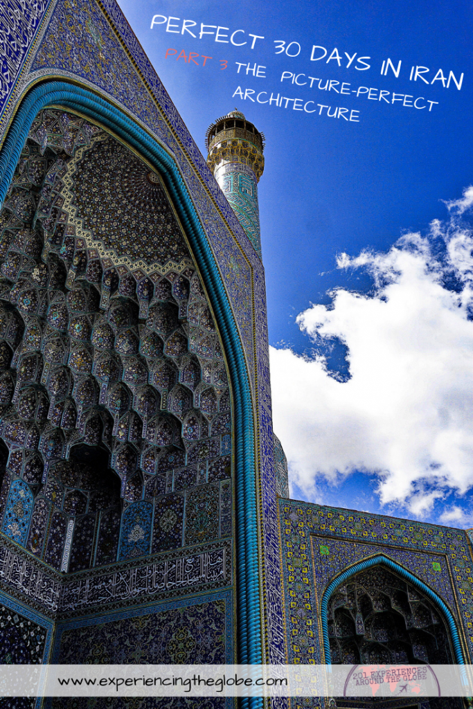 This country is so diverse that it has something for every type of traveler, no matter what interests you. But the main tourist attractions, Iran bucket list places, have to be Isfahan and Shiraz. The architecture is stunning, the kind that leaves you speechless. Wonder at the incredibly colorful mosques and get the most beautiful pictures of Iran! When you're there don't forget to do a day trip to Persepolis and to spend a night in the Varzaneh desert – Experiencing the Globe #BestPlacesToVisitInIran #IranBucketList #IranArchitecture #MiddleEast #Iran #Shiraz #Isfahan #Persepolis #VarzanehDesert #Wanderlust #TravelPhotography #BucketList #SlowTravel #Backpacking #Adventures #TravelExperience #BeautifulDestinations