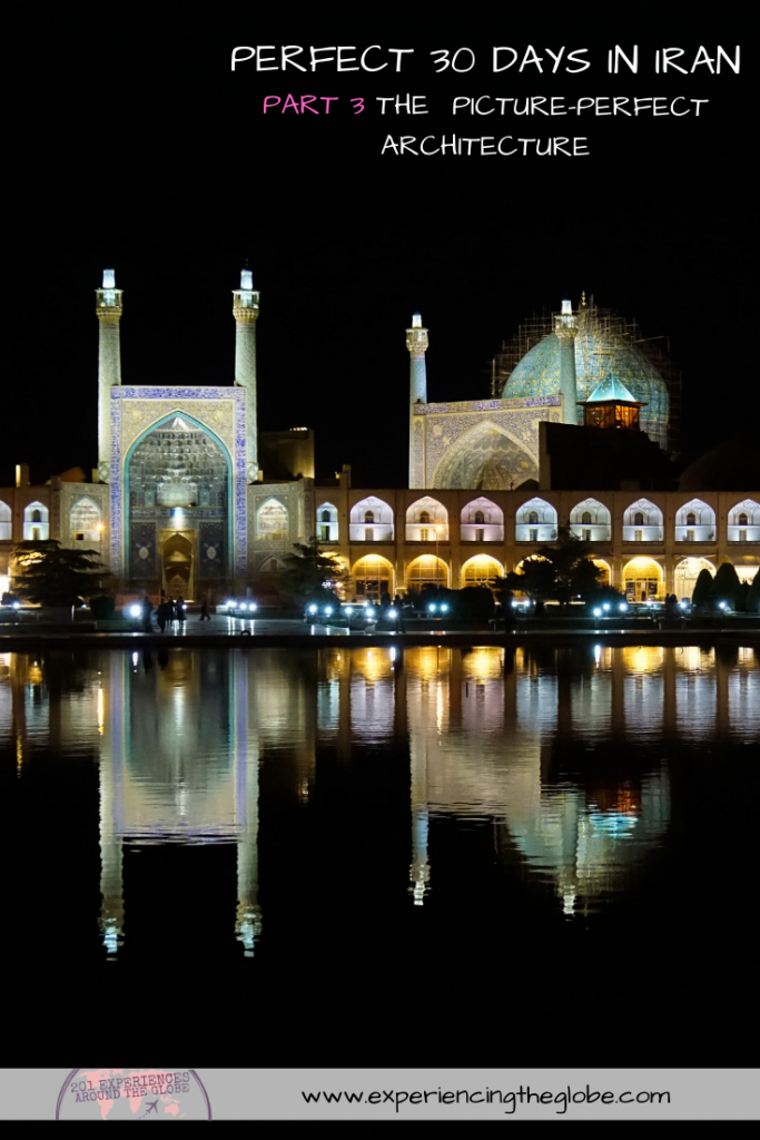 This country is so diverse that it has something for every type of traveler, no matter what interests you. But the main tourist attractions, Iran bucket list places, have to be Isfahan and Shiraz. The architecture is stunning, the kind that leaves you speechless – Experiencing the Globe #BestPlacesToVisitInIran #IranBucketList #IranArchitecture #MiddleEast #Iran #Shiraz #Isfahan #Persepolis #VarzanehDesert #Wanderlust #TravelPhotography #BucketList #SlowTravel #Backpacking #Adventures #TravelExperience #BeautifulDestinations