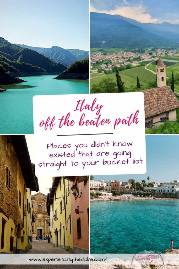 Italy is full of places you didn't know existed –hidden gems away from the crowds, waiting to be discovered. From nature to history to wine, these are the most beautiful destinations in Italy off the beaten path – Experiencing the Globe #Italy #ItalyOffTheBeatenPath #TravelExperiences #BeautifulDestinations #Wanderlust #LaBellaItalia