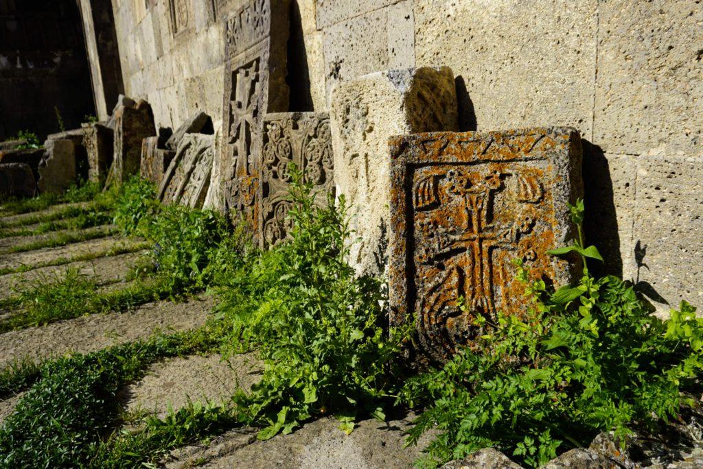 Khachkars, Tatev monastery, Armenia - Experiencing the Globe