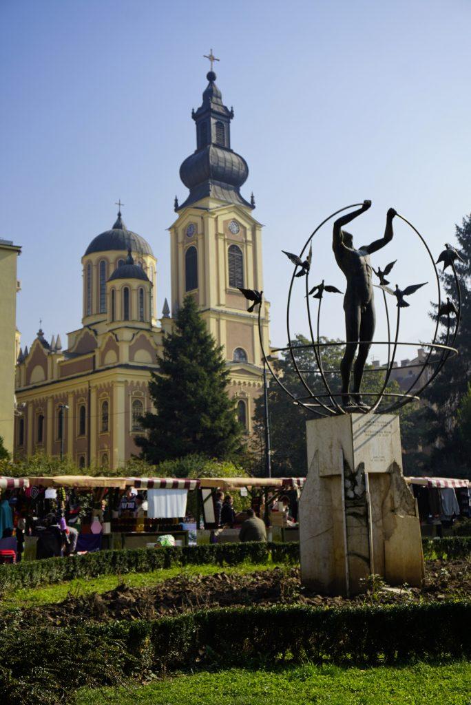 Liberation square, Sarajevo, Bosnia and Herzegovina