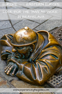 Look for the 'Man at Work' in Bratislava