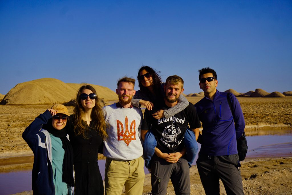 Lut desert with new friends, Iran
