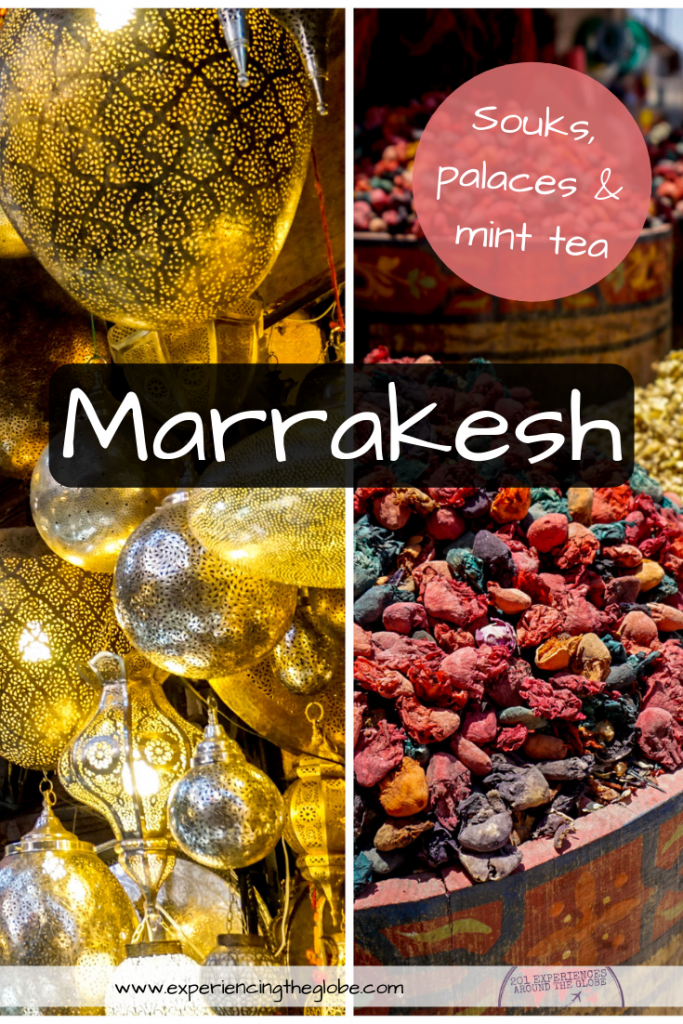 Walking the streets of the medina you'll experience the magic of Morocco. Visit Marrakesh to discover souks, palaces and drink lots of mint tea #VisitMarrakesh #Marrakesh #Morocco #TravelExperience #BeautifulDestinations #Wanderlust #TravelPhotography #Backpacking