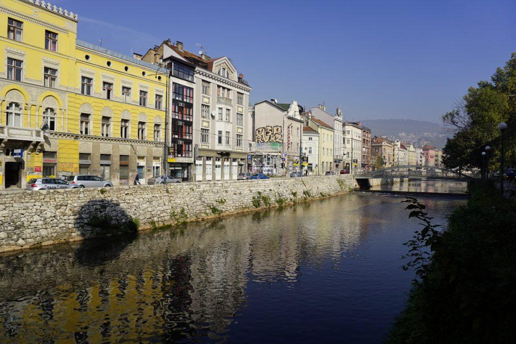 Miljacka river, Sarajevo, Bosnia and Herzegovina