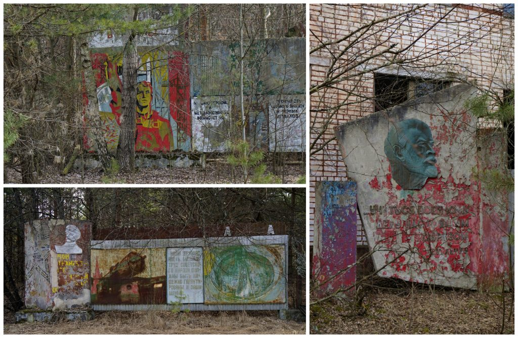 Murals Pripyat Chernobyl Ukraine