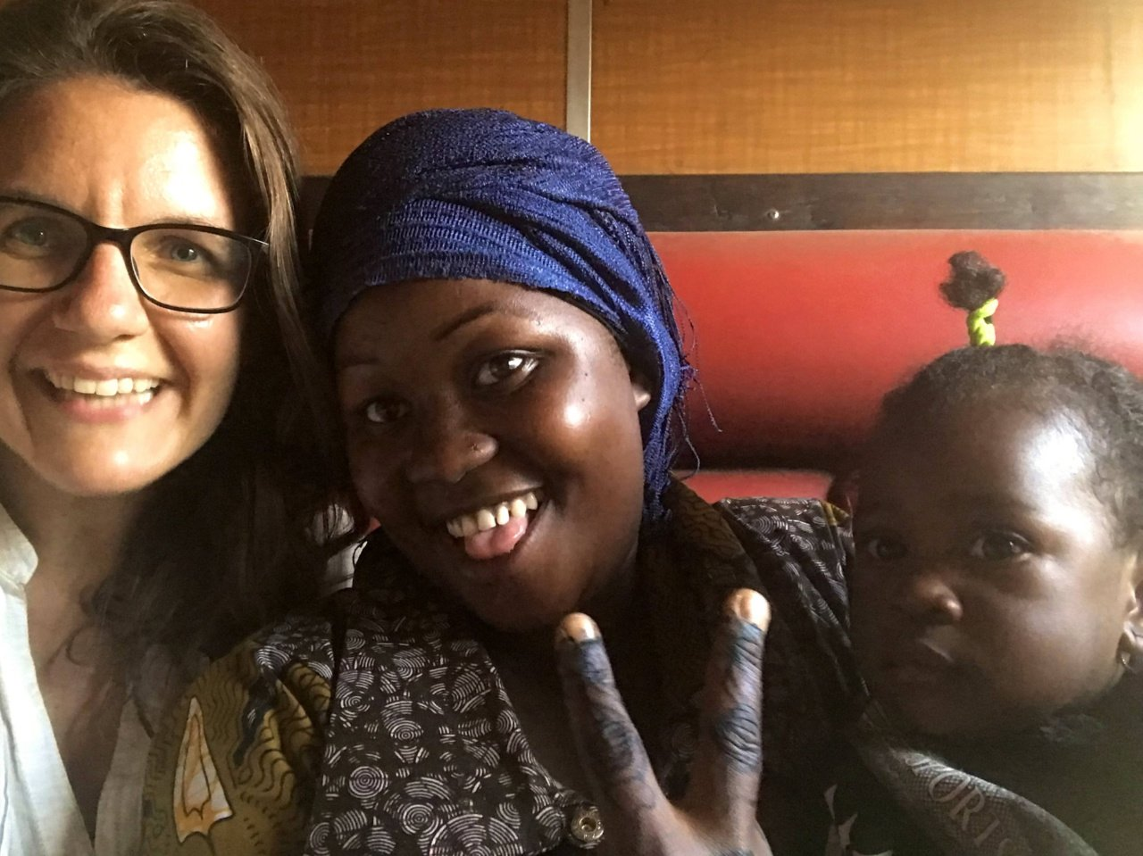 My roommates Adida and Sabrina, Central Line train, Kigoma to Dar es Salaam, Tanzania - Experiencing the Globe