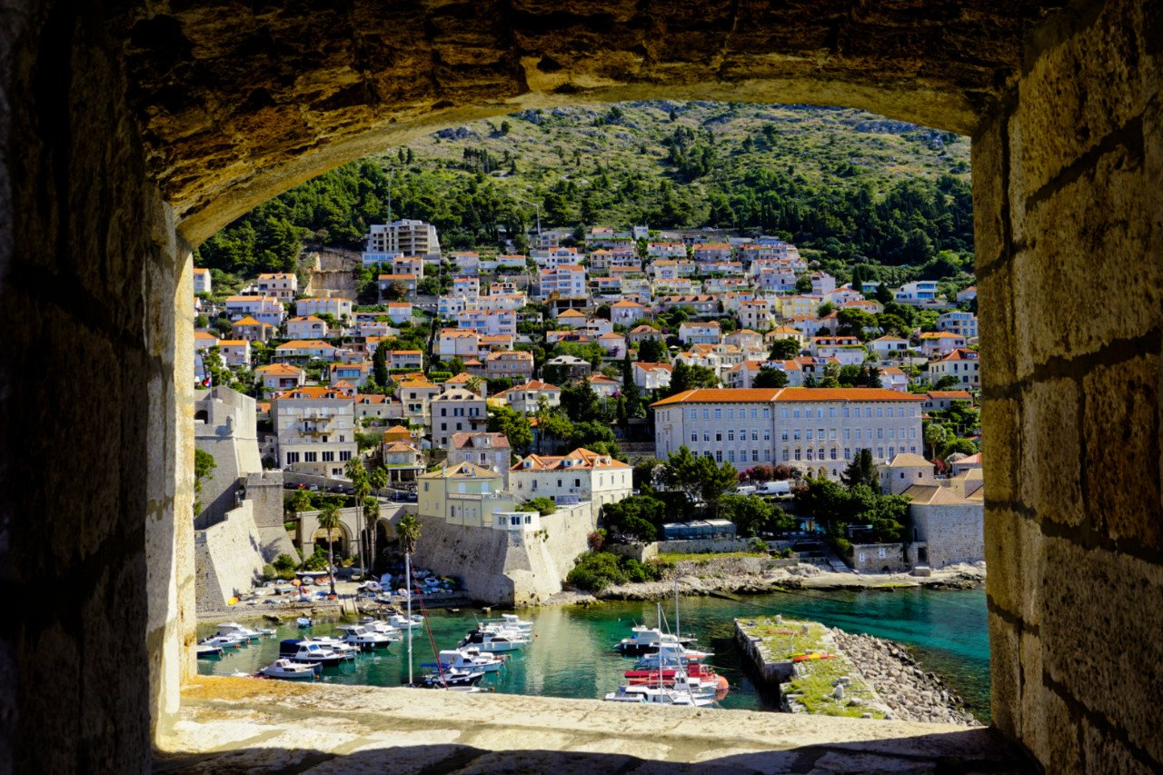 Old harbor from the City Walls, Dubrovnik, Croatia - Experiencing the Globe