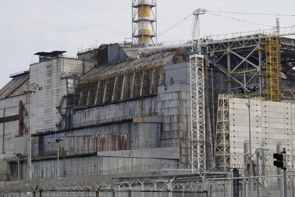 Old sarcophagus reactor 4 Chernobyl Ukraine