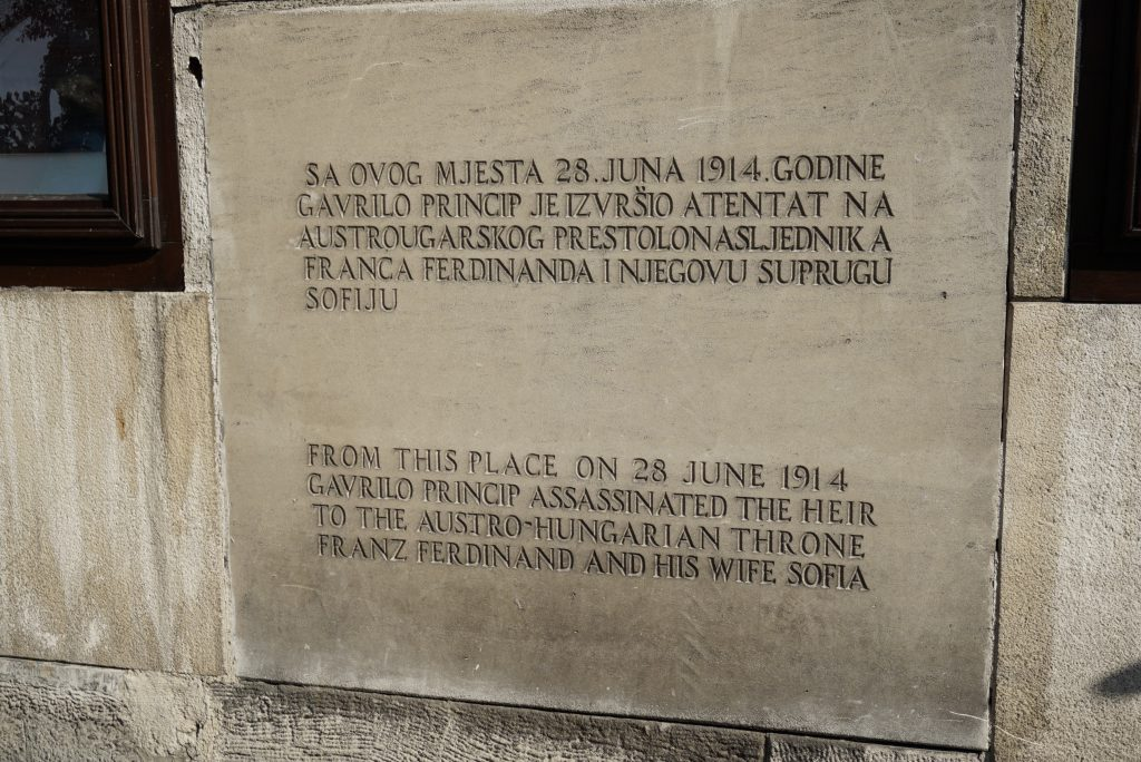 Place of the assassination of the Archduke Franz Ferdinand, Sarajevo, Bosnia and Herzegovina