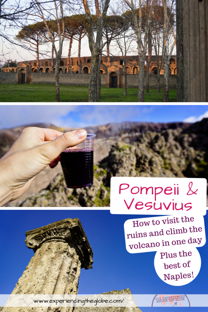 All the info you need to visit Pompeii and Vesuvius in one day –how to make it as a day trip from Naples, which are the main sights of the archaeological site, is it safe to visit Mt. Vesuvius, what to do (and where to eat) in Naples, and more. All your questions in one post! #Pompeii #Vesuvius #MtVesuvius #Wanderlust #LaBellaItalia #TravelPhotography #IndependentTravel #SoloFemaleTravel #BucketList #Adventures #Archaeology