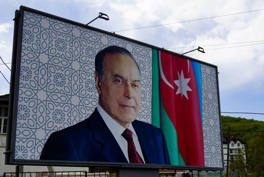 President Heydar Aliyev poster, Azerbaijan