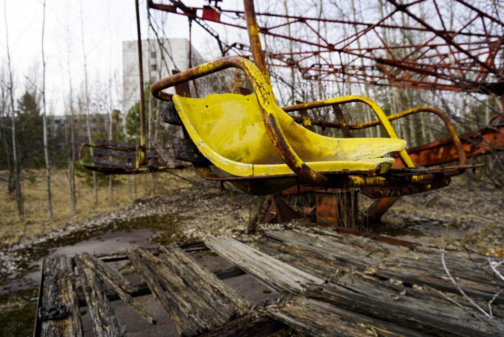 Pripyat amusement park Chernobyl Ukraine