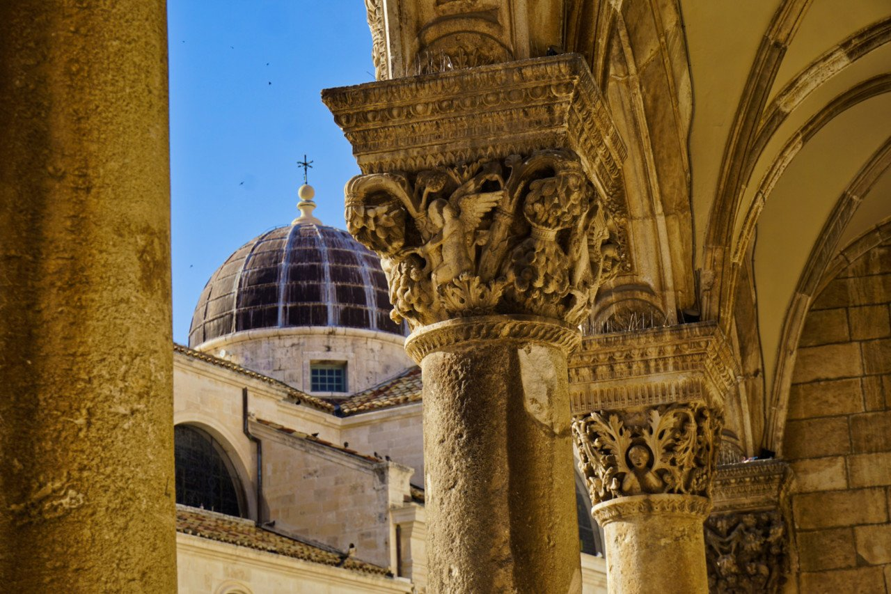Rector's Palace and St. Blaise Church cupola, Dubrovnik, Croatia - Experiencing the Globe