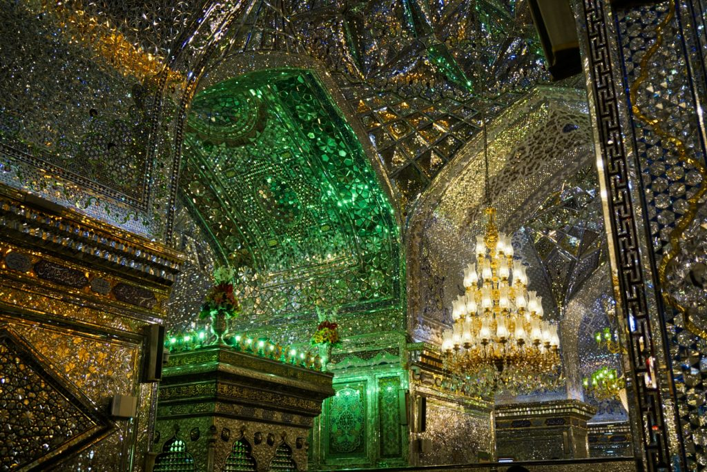 Mirror work inside the Shah Cheragh shrine, Shiraz, Iran – Experiencing the Globe