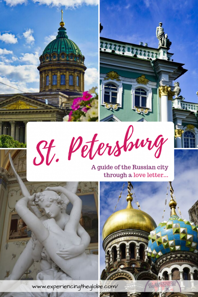 Travel to Saint Petersburg, Russia, to explore a place where culture, history and arts meet. More than a travel guide with things to see and do in the city, you'll get a love letter with the best the place has to offer – Experiencing the Globe #StPetersburg #SaintPetersburg #RussianFederation #Russia #TravelToStPetersburg #BestOfStPetersburg #BeautifulDestinations #Wanderlust #TravelPhotography #SlowTravel #IndependentTravel #SoloFemaleTravel #Backpacking #TravelExperiences #BucketList