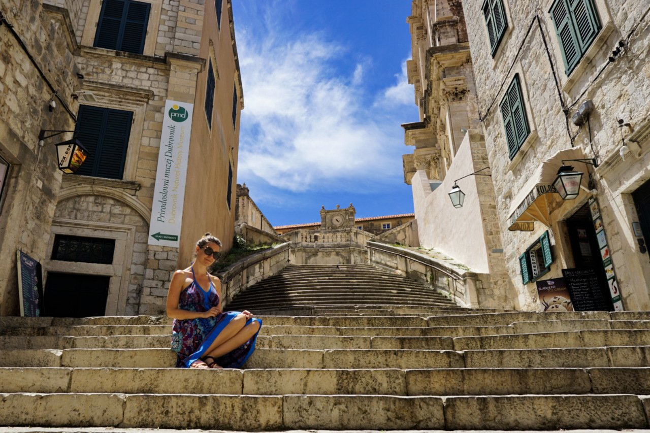 St. Ignatius Church stairs , Dubrovnik, Croatia - Experiencing the Globe