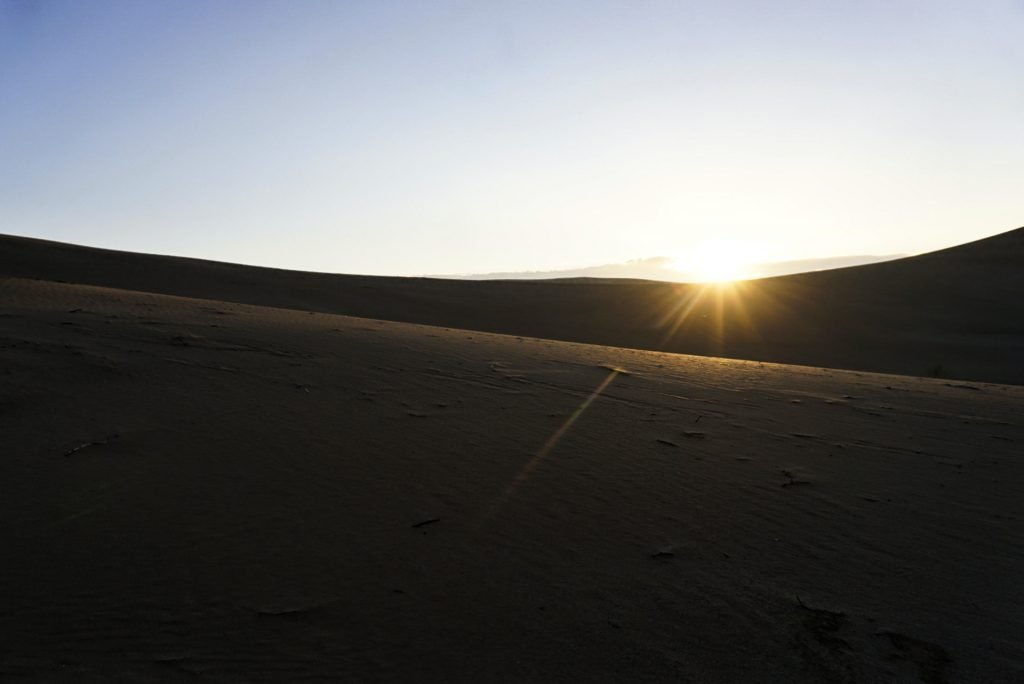 Sunrise in the desert, Varzaneh, Iran