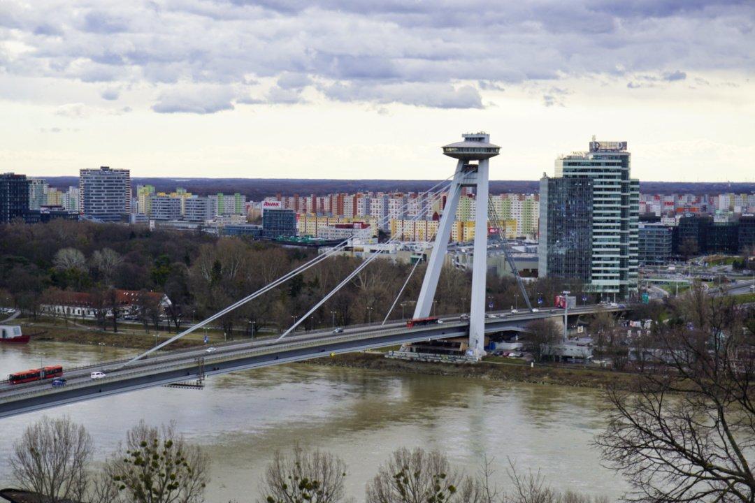 UFO bridge and Petržalka, Bratislava, Slovakia – Experiencing the Globe