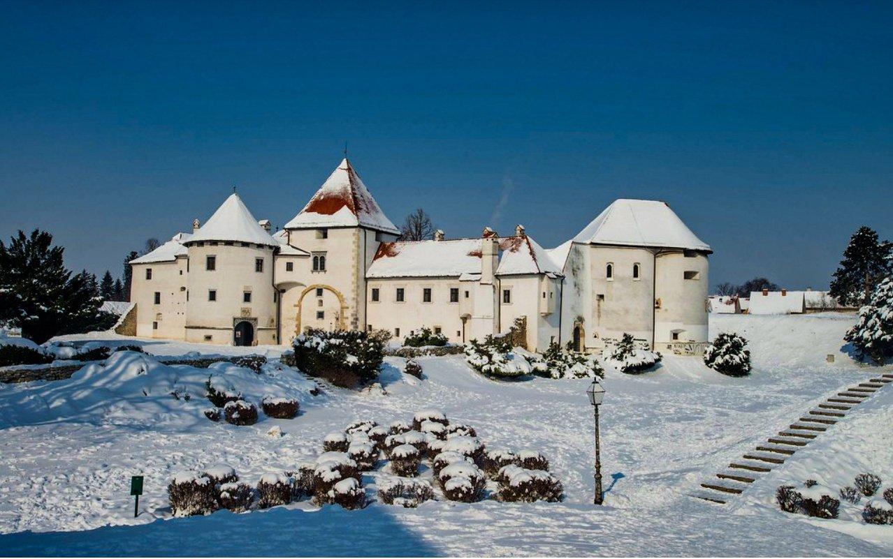 Varaždin castle during winter, Croatia