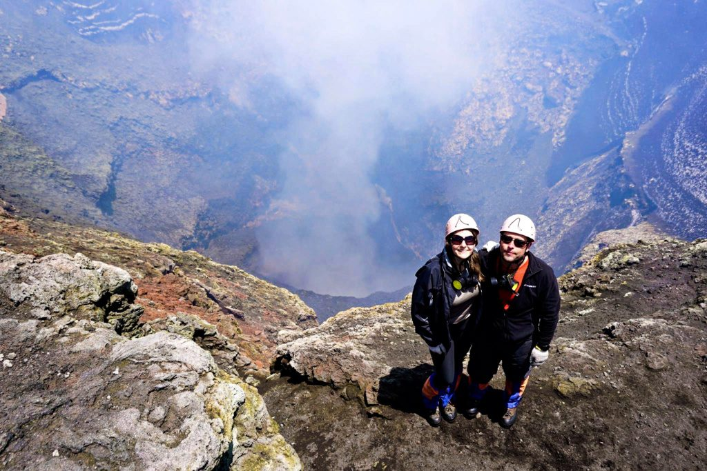 Villarrica volcano summit, crater - Experiencing the Globe